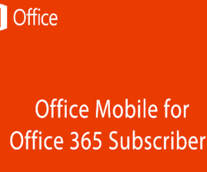 Office mobile for office 365