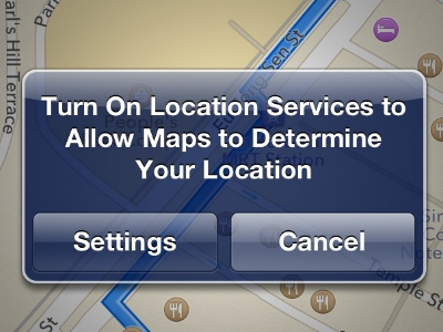 FIND LOCATION SERVICES ON IPHONE 5S