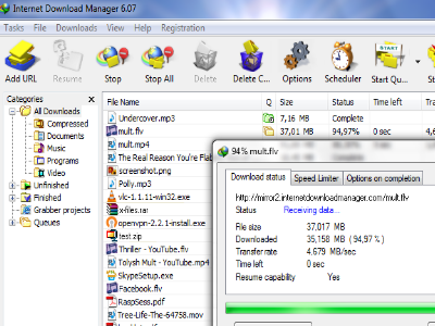 Internet Download Manager - Download  YouTube videos